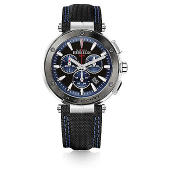 Michel Herbelin | Mens | Newport | Blue And Black Chronograph | Rubber | 37688/AG65 Watch