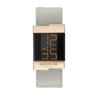 Kenneth Cole Nowy Jork damski zegarek skórzany zegarek cyfrowy KCC0168005