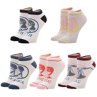 Ankle Socks - Ancient Magus Bride - JRs 5 Pair New Licensed xs6g87cru