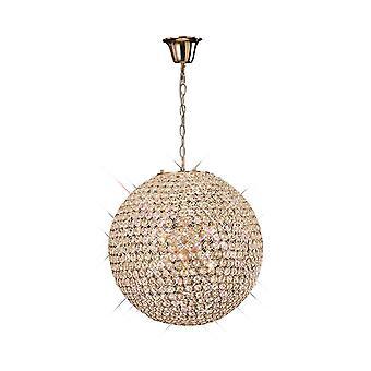 Diyas Ava Pendant 7 Light French Gold/Crystal