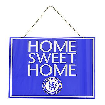 Chelsea FC Official Metal Home Sweet Home Football Crest Sign