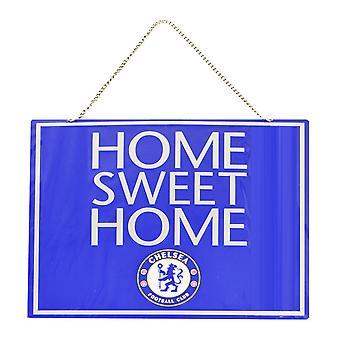 Chelsea FC officiële metaal Home Sweet Home Voetbal Crest Sign