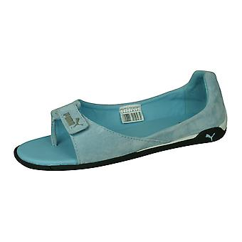 Puma Impulse Cat II Womens Suede Leather Sandals - Blue