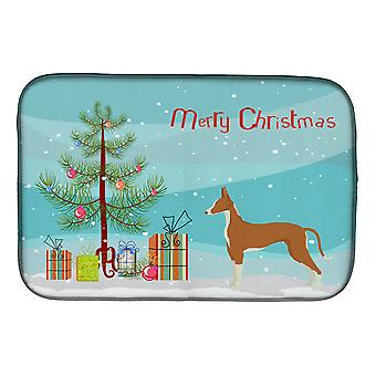 Carolines Treasures  CK3545DDM Ibizan Hound Christmas Tree Dish Drying Mat