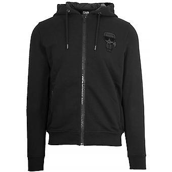 Lagerfeld Black Hooded Sweatshirt
