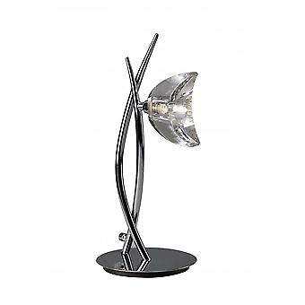 Mantra Eclipse Tall Table Lamp 1 Light G9, Polished Chrome