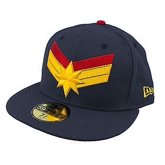 Captain Marvel Navy nieuwe tijdperk 59Fifty uitgerust hoed