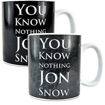 John Snow Game of Thrones Heat Change Mug