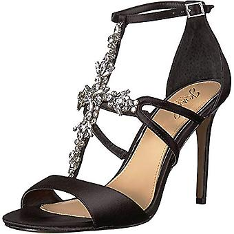 BADGLEY MISCHKA Womens Galvin Fabric Open Toe Ankle Strap Classic Pumps