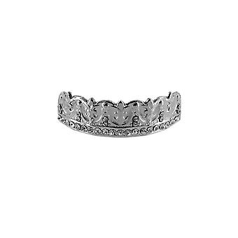 Grillz Cz Silver Diamond Monarch [Top]