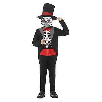 Boys Day of the Dead Boy Halloween Fancy Dress drakt