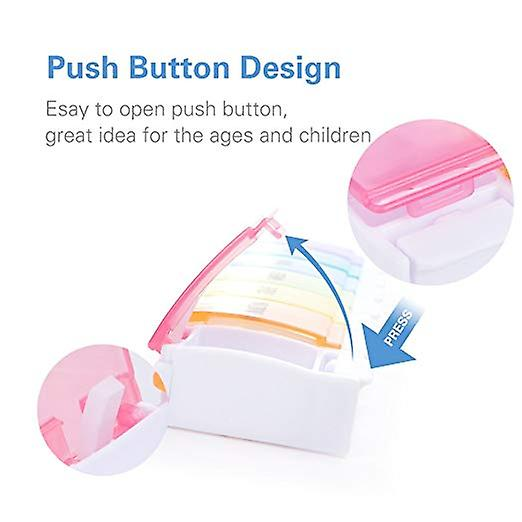 Pill Box for 7 Days Dosage - Set of 2 Tablet Box Pill Box for 7 Days Compact Medicine Box for Home and on the Go - Never Skip a Day!