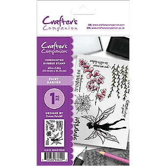 Crafter's Companion A6 Rubber Stamp - Fairy Garden