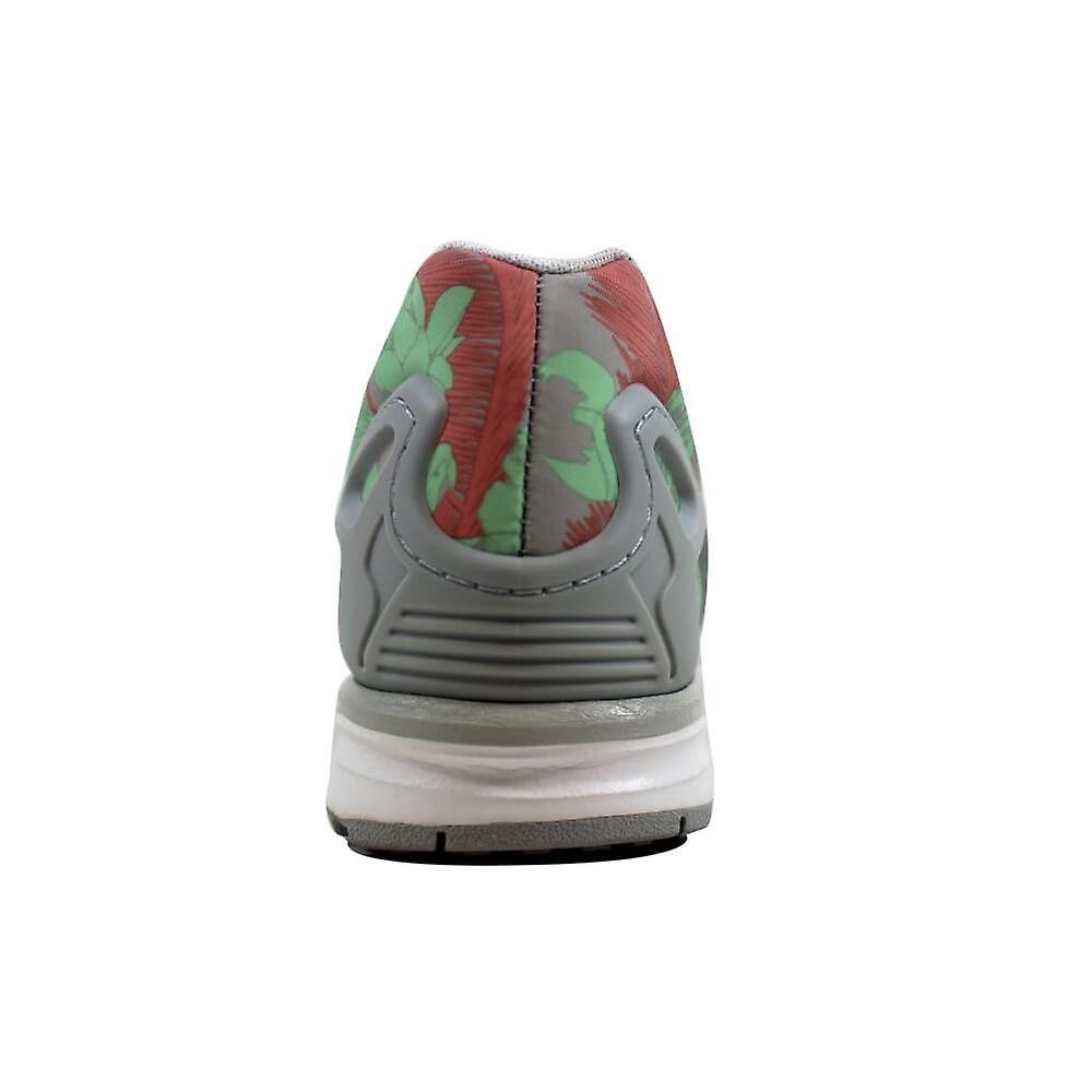 Adidas ZX Flux W lys Onix/hvit-rosa blomster Women's M19456 størrelse 9.5 Medium