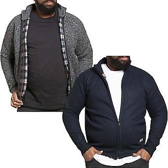 Duke D555 Mens Braxton Big Tall Kingsize Full Zip Fleece Lined Winter Jumper Top