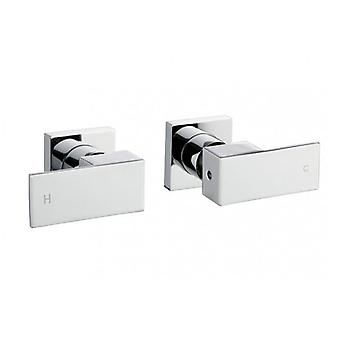 Ottimo Square Chrome Shower/Bath Taps