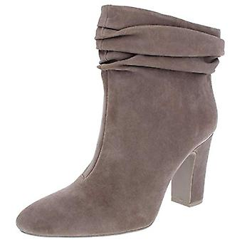 DKNY Womens Sabel Suede Ankle Booties Taupe 9 Medium (B,M)