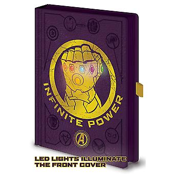 Avengers Infinity War Notebook Thanos Gauntlet LED Official Purple Premium A5
