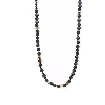 Collier et pendentif Les Interchangeables A59319   - Sautoir Bobo Chic Noir Femme