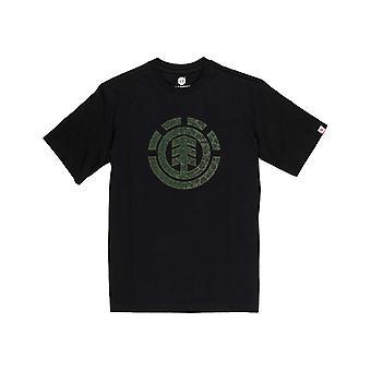 要素ヒョウアイコンフィルショートスリーブTシャツ フリントブラック