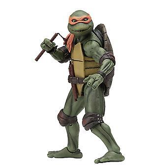 Teenage Mutant Ninja Turtles Michelangelo 7-asteikko materiaali: muovi, tuottaja: NECA.