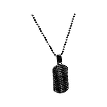 Collar and pendant Rochet HP1431101 - PVD Black DRIVER 3x1/7cm - Cha only 50cm 3mm Men
