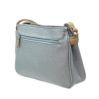 Envy Bags Metallic Classic Zip Top Bag - Blue