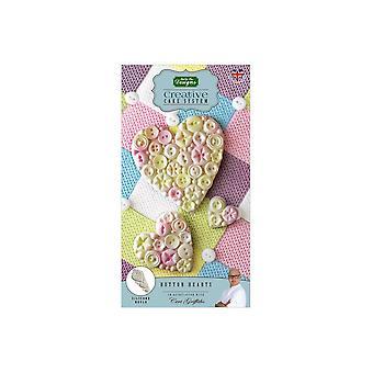 Katy Sue Designs Button Hearts Moule en silicone