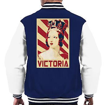Queen Victoria Retro Propaganda Men's Varsity Jacket