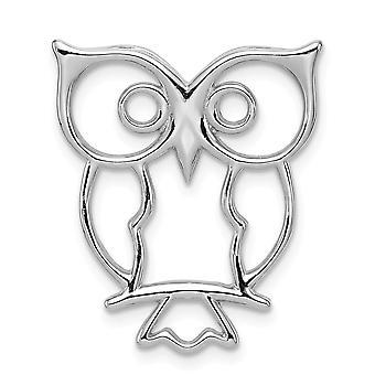 925 Sterling Silver Owl Chaîne Slide Bijoux Cadeaux pour les femmes