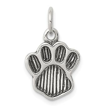 925 Sterling Silver Polished and Paw Pendant Necklace Jewelry Gifts for Women