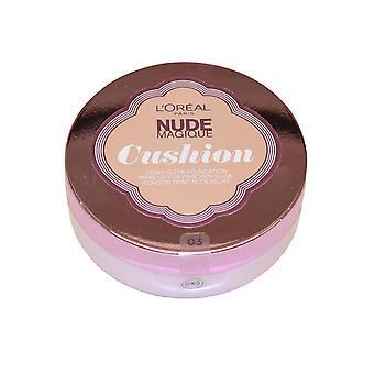 L'Oreal Nude Magique Foundation Cushion Dewy Glow 14g Vanilla #03