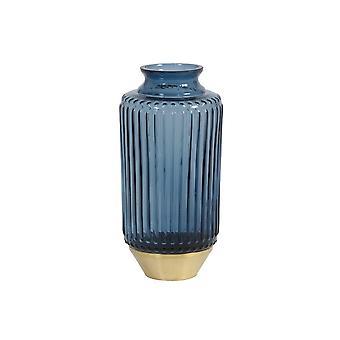 ضوء والمعيشة زهرية 10.5x21cm جانيرو الزجاج الأزرق والنحاس