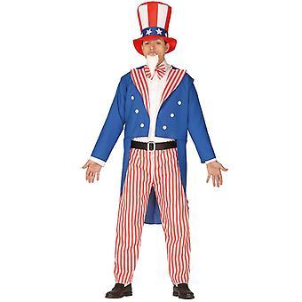 Costume de robe de fantaisie de l'oncle Sam des USA