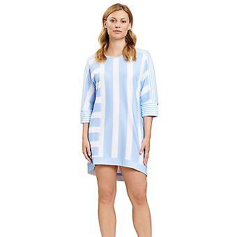Féraud 3201117-16381 Femei's Casual Chic Ringlet Sky Blue Striped Loungewear Nightdress