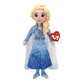 "Disney Frozen Elsa TY Beanie 14"" Juguete de felpa con sonido"