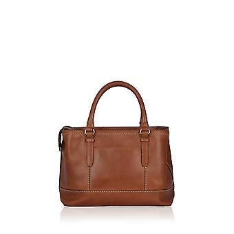Butterwick Leather Grab Bag in Chestnut Brown