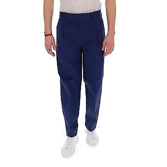 Missoni Mui00062bw005u93832 Men's Blue Cotton Pants