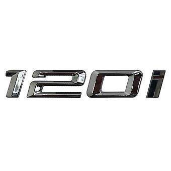 Silver Chrome BMW 120i Car Model Rear Boot Number Letter Sticker Decal Badge Emblem For 1 Series E81 E82 E87 E88 F20 F21 F52 F40