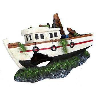 Trixie Fishing Boat (Fish , Decoration , Ornaments)