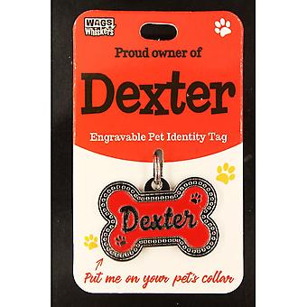 Wags & Whiskers Pet Identity Tag - Dexter