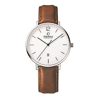 Obaku Toft Mocha Men's Wristwatch V181GDCWRN