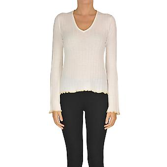 Dondup Ezgl030229 Women's White Wool Sweater