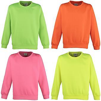 Awdis Childrens Unisex elektrisk Sweatshirt / Schoolwear