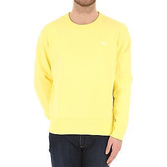 Acne Studios 2hl173aqn Donne's Felpa di cotone giallo