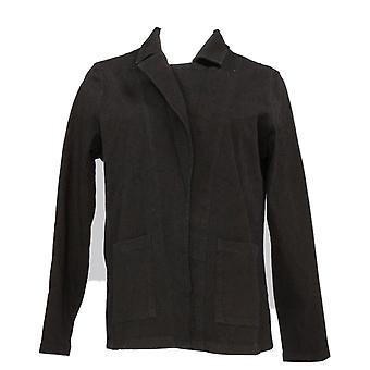 女性のコントロールを持つ女性&アポスのスーツジャケット/ブレザーストレッチデニムブラックA366082