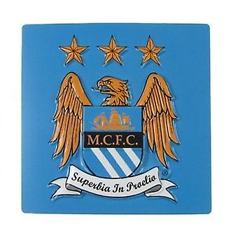 Manchester City FC Official Football Gift 3D Crest Fridge Magnet