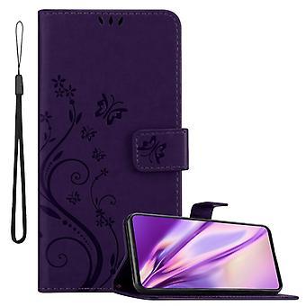 Cadorabo случае Samsung Галактика A51 случае покрытия - телефон случае в цветочном дизайне с магнитной застежкой, стенд функции и 3 карточных отсеков случае случае покрытия случае