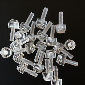 60x Acrylic Thumbscrews, slotted+knurled M4 x 12mm