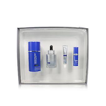 Elevación activa de la piel + kit firme: crema para el cuello + suero + reposición dérmica + complejo de reparación de retinol 246555 4pcs